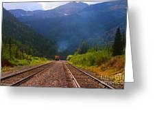 Misty Mountain Train Greeting Card