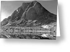 109644-bw-mitchell Peak, Wind Rivers Greeting Card