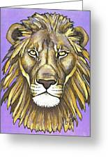 Mod Male Lion Greeting Card