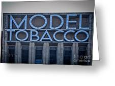 Model Tobacco Building Greeting Card