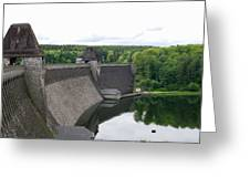 Mohne Dam Wide View Greeting Card