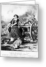 Molly Pitcher (c1754-1832) Greeting Card