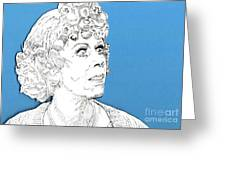 Momma On Blue Greeting Card by Jason Tricktop Matthews