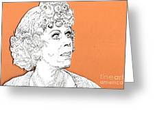 momma on Orange Greeting Card