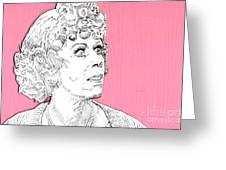 Momma On Pink Greeting Card