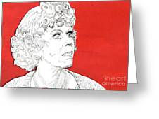 Momma On Red Greeting Card