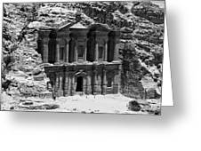 Monastery Of Petra Greeting Card by Ernesto Cinquepalmi