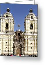 Monastery Of San Francisco - Lima Peru Greeting Card