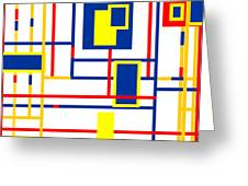Mondrian Color Teraphy Greeting Card