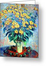 Monet's Jerusalem  Artichoke Flowers Greeting Card