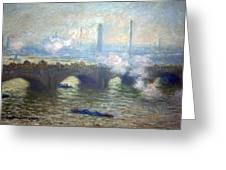 Monet's Waterloo Bridge On A Gray Day Greeting Card