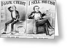Money Lending, 1870 Greeting Card