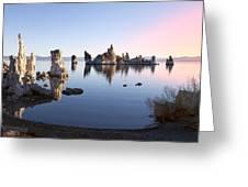 Mono Lake In First Light Greeting Card