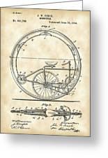 Monocycle Patent 1894 - Vintage Greeting Card