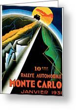 Monte Carlo Rallye Automobile Greeting Card