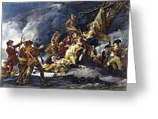 Montgomerys Death, 1775 Greeting Card
