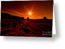 Monument Valley -utah  Greeting Card