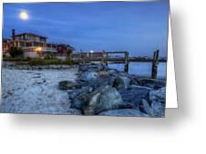 Moon Over Dewey Beach Greeting Card