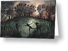 Moonlight Dance Greeting Card