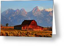 Mormon Row And The Grand Tetons  Greeting Card