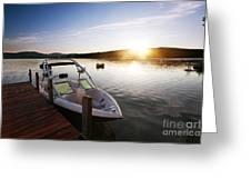 Morning Sun On The Lake Greeting Card