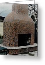 Mosaic Fireplace Greeting Card