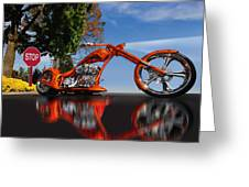 Motorcycle Reflections Greeting Card
