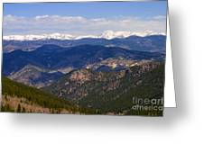 Mount Evans And Continental Divide Greeting Card