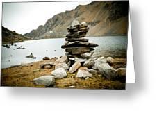 Mountain Lake Gosaikunda Nepal Greeting Card