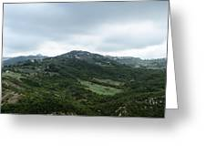 Mountain Landscape Of Italy Greeting Card