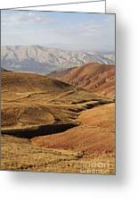 Mountain Scenary Near Zanjan In Iran Greeting Card