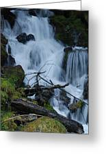 Mountain Waterfall Greeting Card
