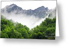 Mountain With Clouds Greeting Card