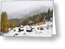 Mountain With Snow Greeting Card