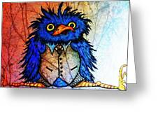 Mr Blue Bird Greeting Card by Vickie Scarlett-Fisher