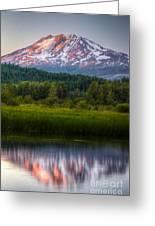 Mt Adams Sunset Greeting Card