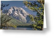 Mt. Moran And Jenny Lake Greeting Card