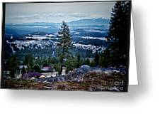Mt Spokane Greeting Card