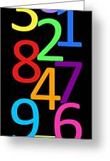 Multi-color Numbers Greeting Card