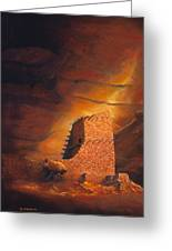 Mummy Cave Ruins Greeting Card