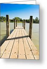 Murray River Jetty Greeting Card