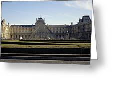 Musee Du Louvre In Paris France Greeting Card