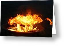 Mushroom Flame Greeting Card