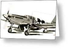 Mustang P-51 Greeting Card