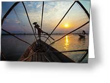 Myanmar, Inle Lake Greeting Card