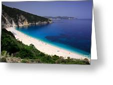 Myrtos Beach Greeting Card