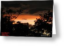 Mystic Sunset Greeting Card