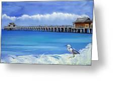 Naples Pier Naples Florida Greeting Card