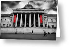 National Gallery London Greeting Card by Ed Pettitt