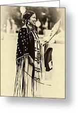 Native American Pow Wow In Montana Greeting Card